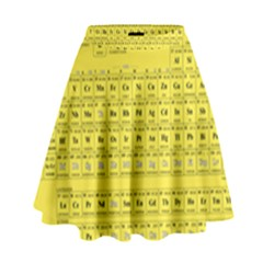 Periodic Table in Yellow High Waist Skirt