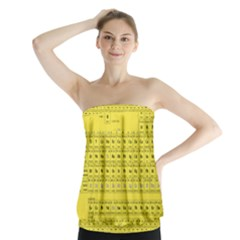 Periodic Table In Yellow Strapless Top