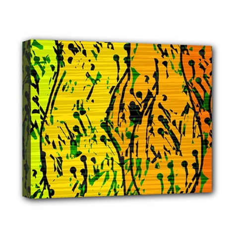Gentle yellow abstract art Canvas 10  x 8