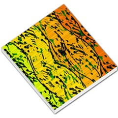 Gentle yellow abstract art Small Memo Pads