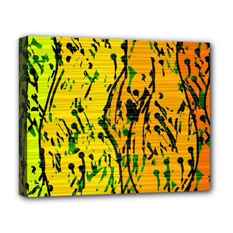 Gentle yellow abstract art Deluxe Canvas 20  x 16