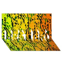 Gentle yellow abstract art BEST BRO 3D Greeting Card (8x4)