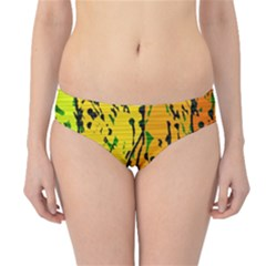 Gentle yellow abstract art Hipster Bikini Bottoms