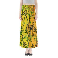 Gentle yellow abstract art Maxi Skirts
