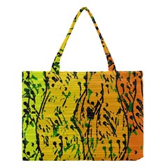 Gentle Yellow Abstract Art Medium Tote Bag