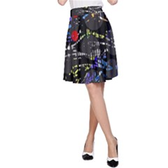 Blue confusion A-Line Skirt
