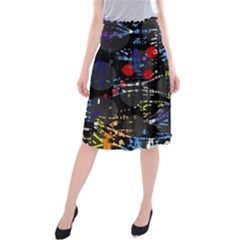 Blue confusion Midi Beach Skirt
