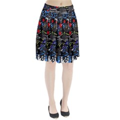 Blue confusion Pleated Skirt