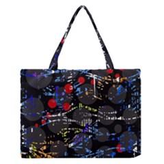 Blue confusion Medium Zipper Tote Bag