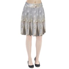 3d White Peacock Feather Pleated Skirt