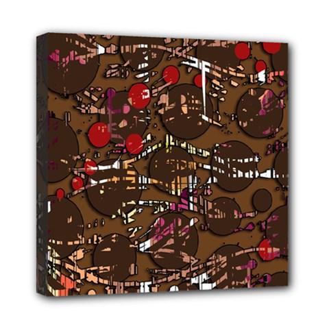 Brown confusion Mini Canvas 8  x 8