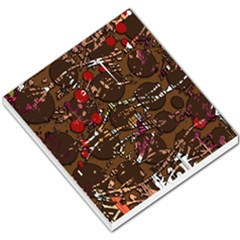 Brown confusion Small Memo Pads