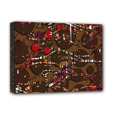 Brown confusion Deluxe Canvas 16  x 12