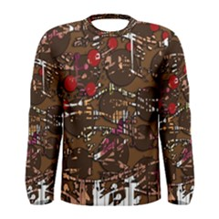 Brown confusion Men s Long Sleeve Tee