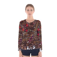 Brown confusion Women s Long Sleeve Tee