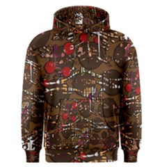 Brown confusion Men s Pullover Hoodie