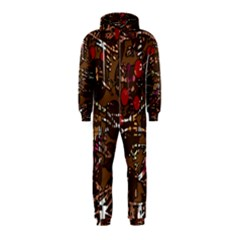 Brown confusion Hooded Jumpsuit (Kids)