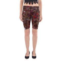 Brown Confusion Yoga Cropped Leggings