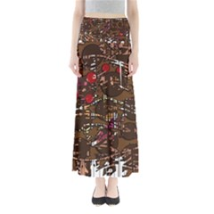 Brown confusion Maxi Skirts