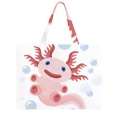 Axolotl Natural Tshirt Large Tote Bag