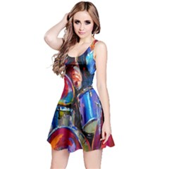Abstract Paintings Wallpapers Reversible Sleeveless Dress