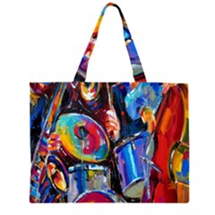Abstract Paintings Wallpapers Large Tote Bag