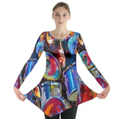 Abstract Paintings Wallpapers Long Sleeve Tunic