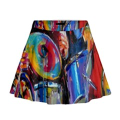 Abstract Paintings Wallpapers Mini Flare Skirt