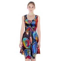 Abstract Paintings Wallpapers Racerback Midi Dress