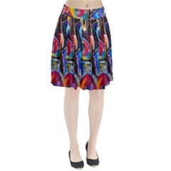Abstract Paintings Wallpapers Pleated Skirt