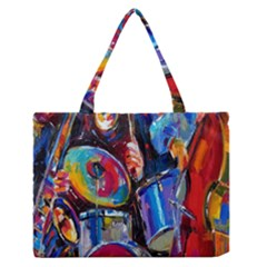 Abstract Paintings Wallpapers Medium Zipper Tote Bag
