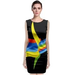 Abstraction Banana Classic Sleeveless Midi Dress