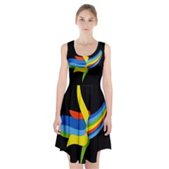 Abstraction Banana Racerback Midi Dress