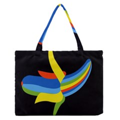 Abstraction Banana Medium Zipper Tote Bag