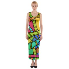 Abstrak Fitted Maxi Dress