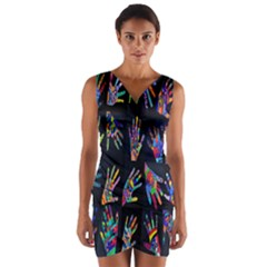 Art With Your Hand Wrap Front Bodycon Dress