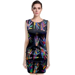 Art With Your Hand Classic Sleeveless Midi Dress