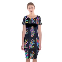 Art With Your Hand Classic Short Sleeve Midi Dress