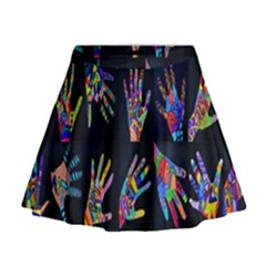 Art With Your Hand Mini Flare Skirt