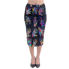 Art With Your Hand Midi Pencil Skirt
