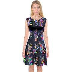 Art With Your Hand Capsleeve Midi Dress