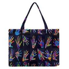 Art With Your Hand Medium Zipper Tote Bag