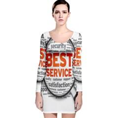 Article Long Sleeve Velvet Bodycon Dress