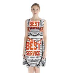 Article Sleeveless Chiffon Waist Tie Dress