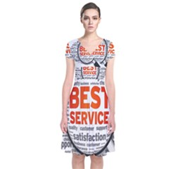 Article Short Sleeve Front Wrap Dress