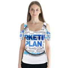 Article Market Plan Butterfly Sleeve Cutout Tee