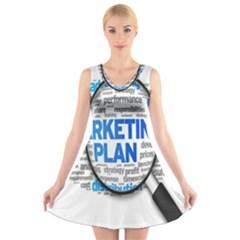 Article Market Plan V Neck Sleeveless Skater Dress