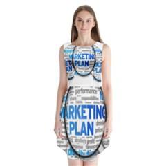 Article Market Plan Sleeveless Chiffon Dress