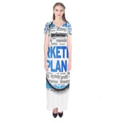 Article Market Plan Short Sleeve Maxi Dress
