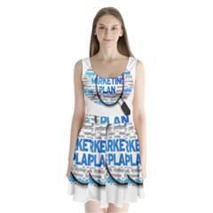 Article Market Plan Split Back Mini Dress